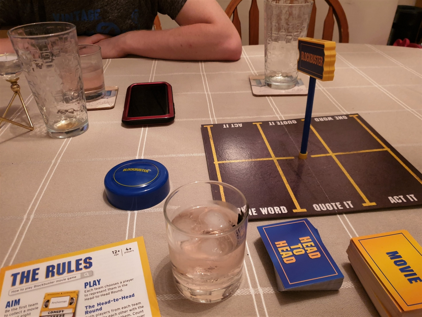 Blockbuster Board Game on table