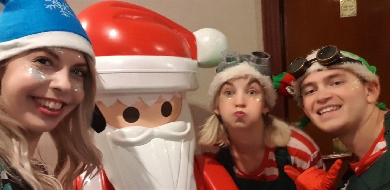 Elves and Playmobil Santa at BlogOn