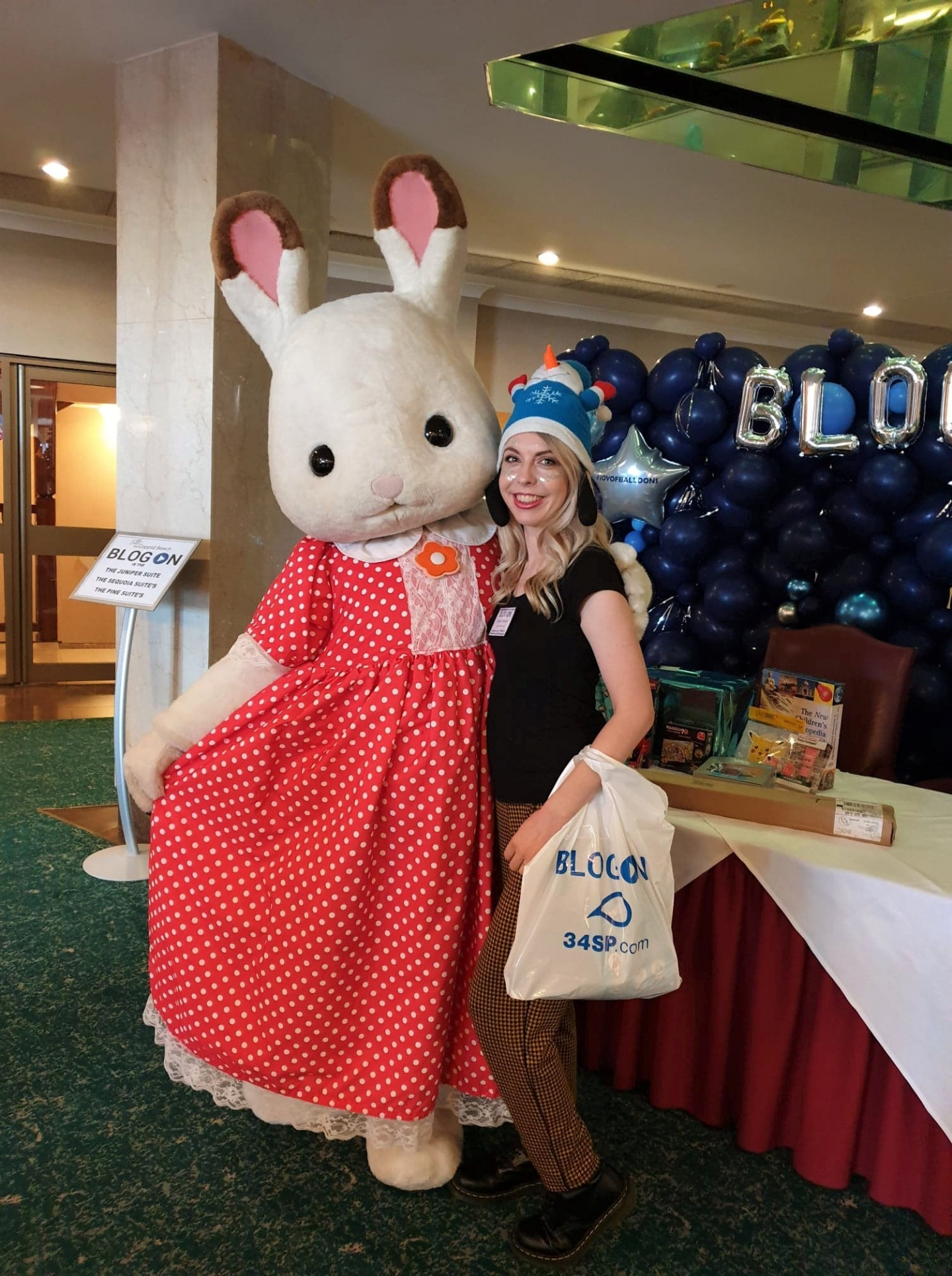 Meeting Sylvanian Families rabbit at BlogOn