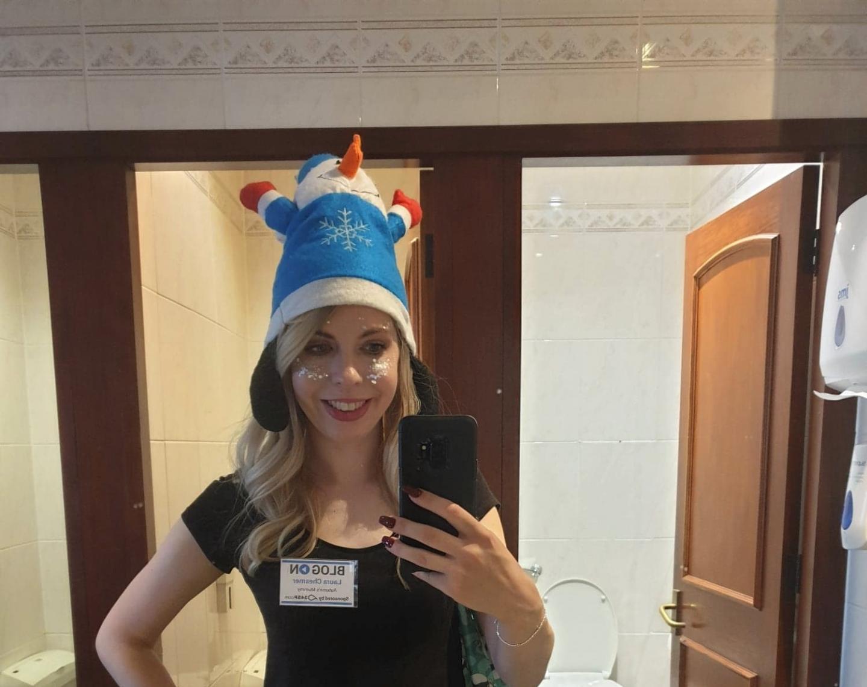 Novelty snowman hat at BlogOn