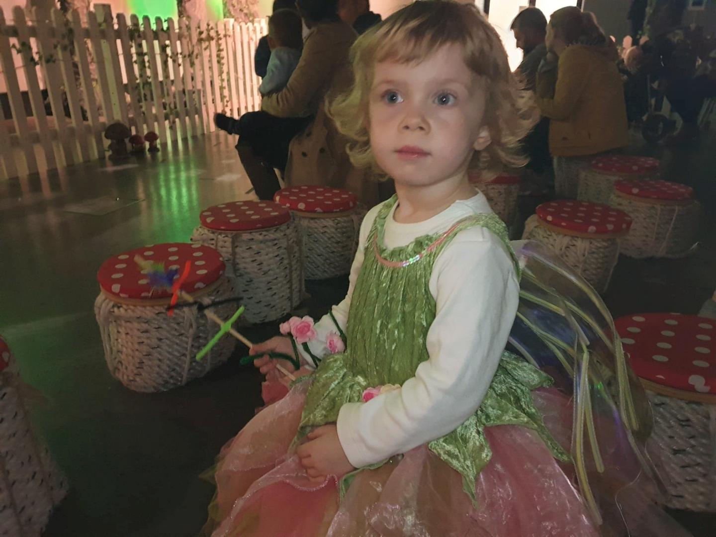 Toddler watching show at Enchanted Dockyard, Chatham Dockyard