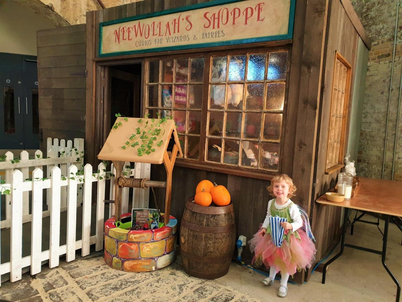 Toddler at Neewollah's Shoppe at Chatham Dockyard
