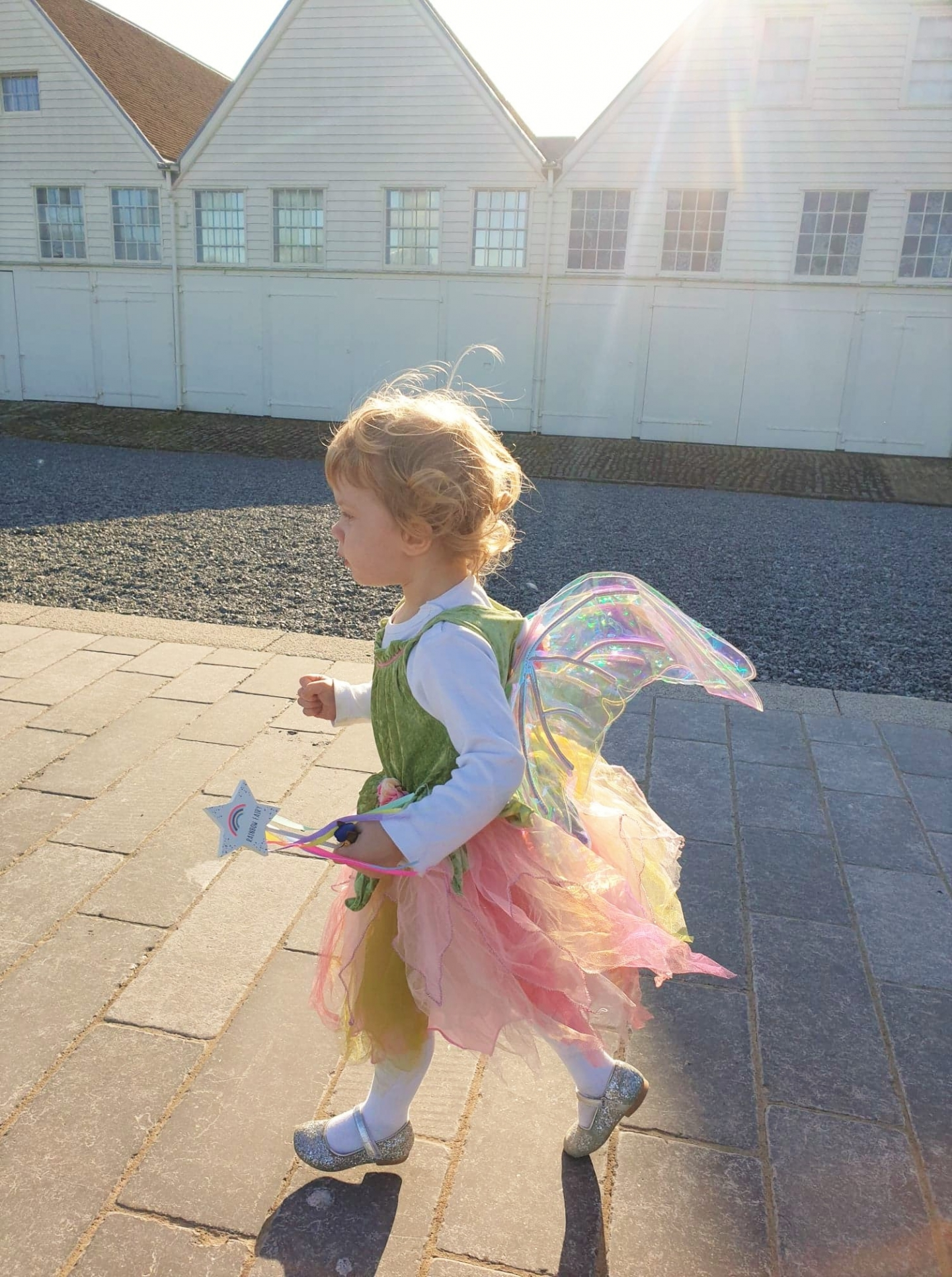 Toddler dressed as fairy at Chatham Dockyard