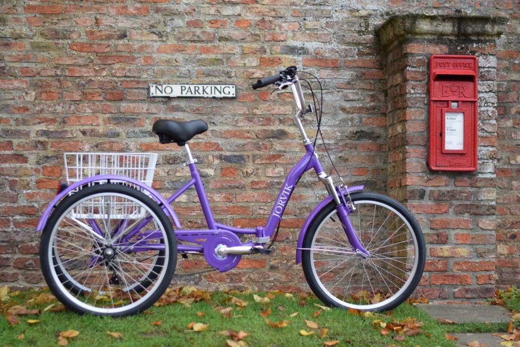 Purple Jorvik adult tricycle