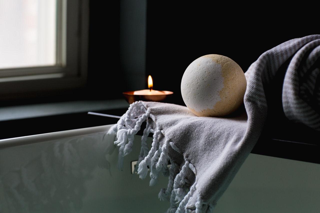 Candlelit relaxing bath to help with sleep