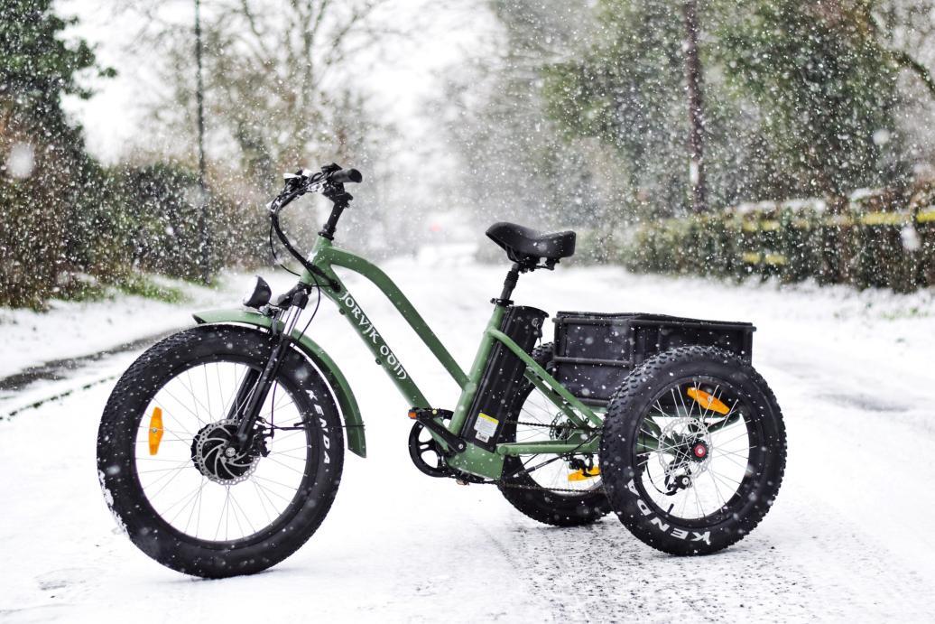 Jorvik adult tricycle in snow