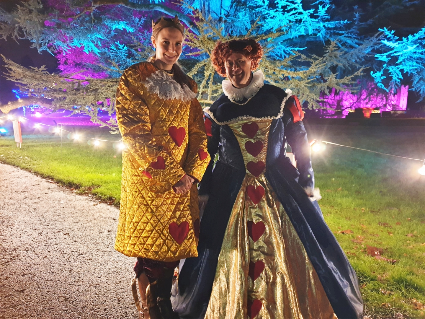 King and Queen of Hearts at Hever Castle