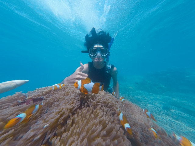 snorkelling on holiday