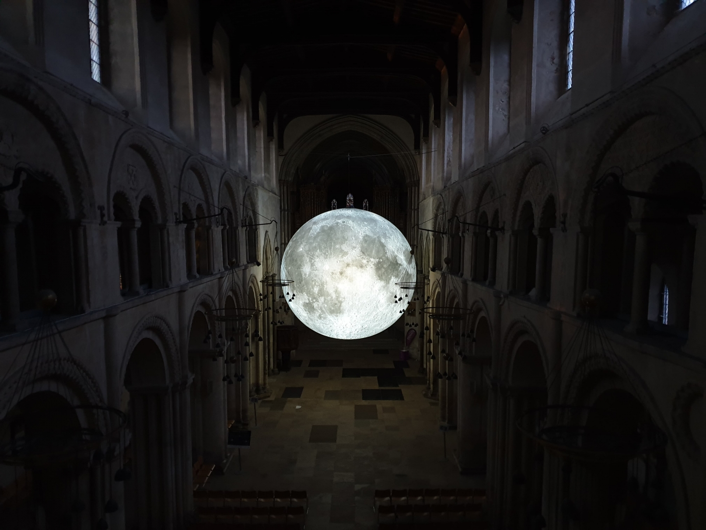 Luke Jerram Museum of the Moon Rochester Cathedral