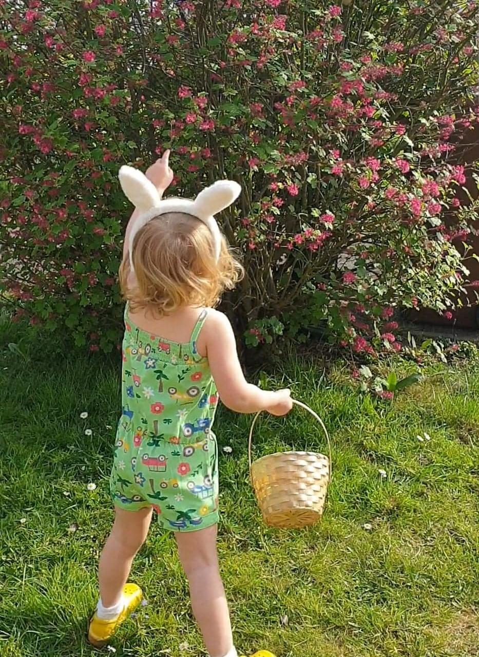 Toddler Easter egg hunt
