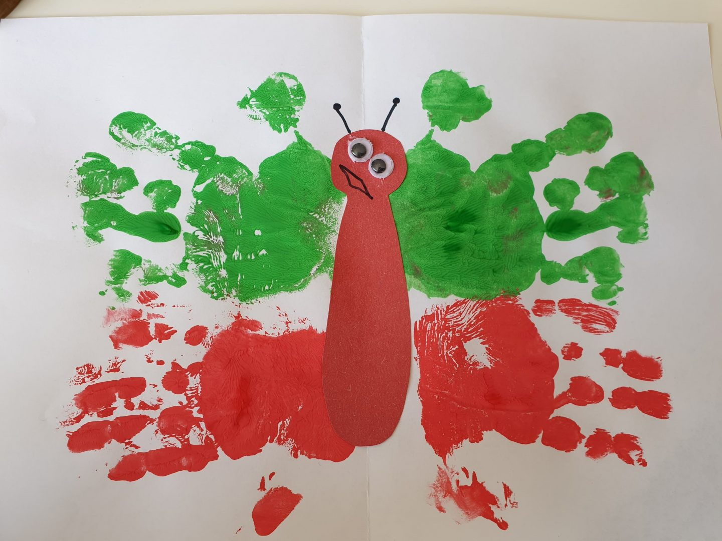 Handprint butterfly painting