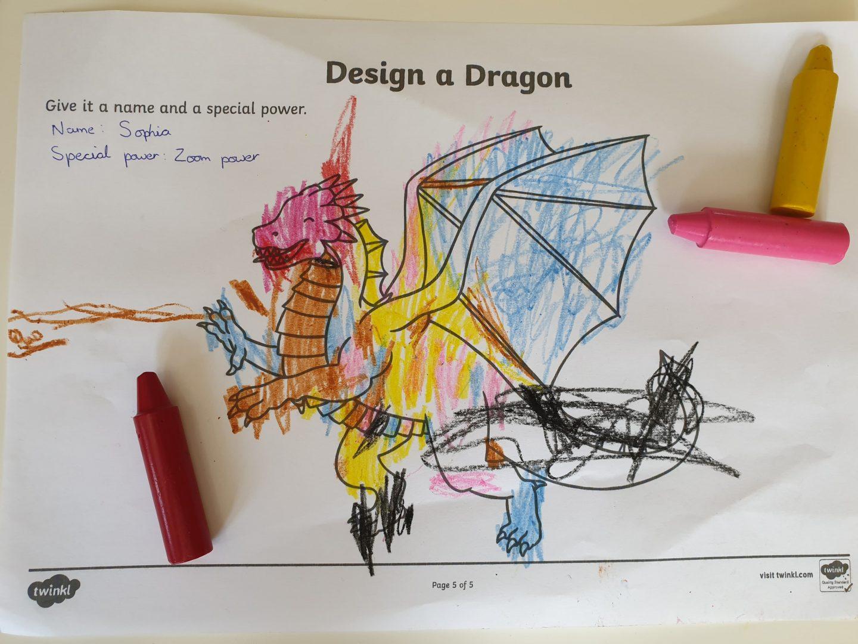 Design a dragon colouring