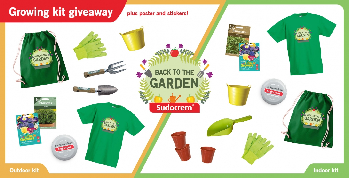 Sudocrem Back to the Garden growing kit giveaway competition