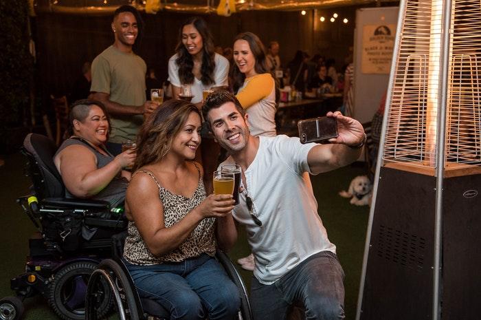 powered wheelchair socialising