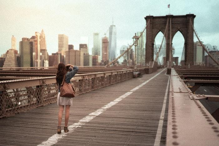 Tourist in Brooklyn NYC