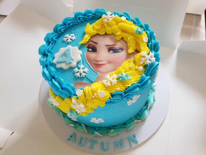 4th birthday Elsa Frozen cake