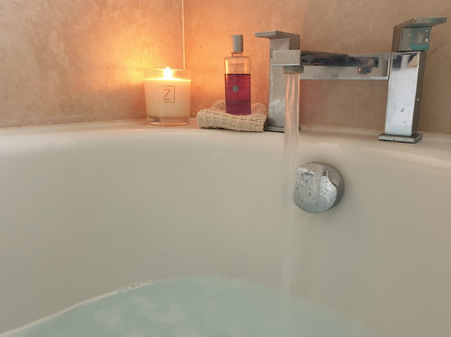 Zita West candle and lavender bath oil