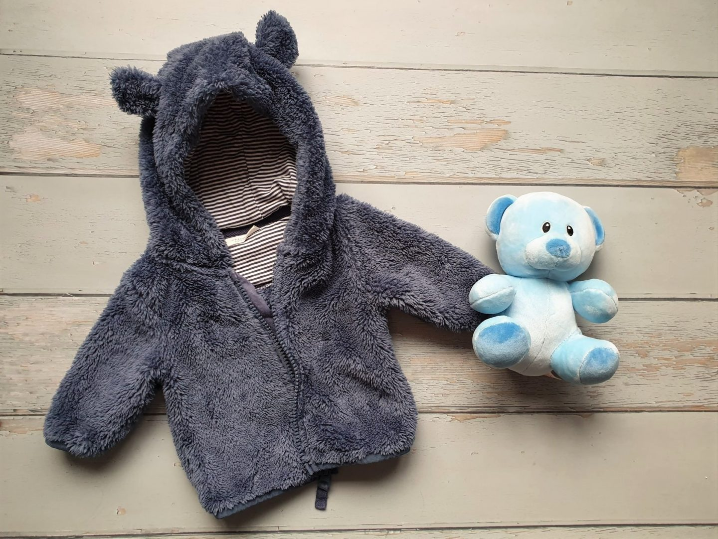 Baby bear coat and toy