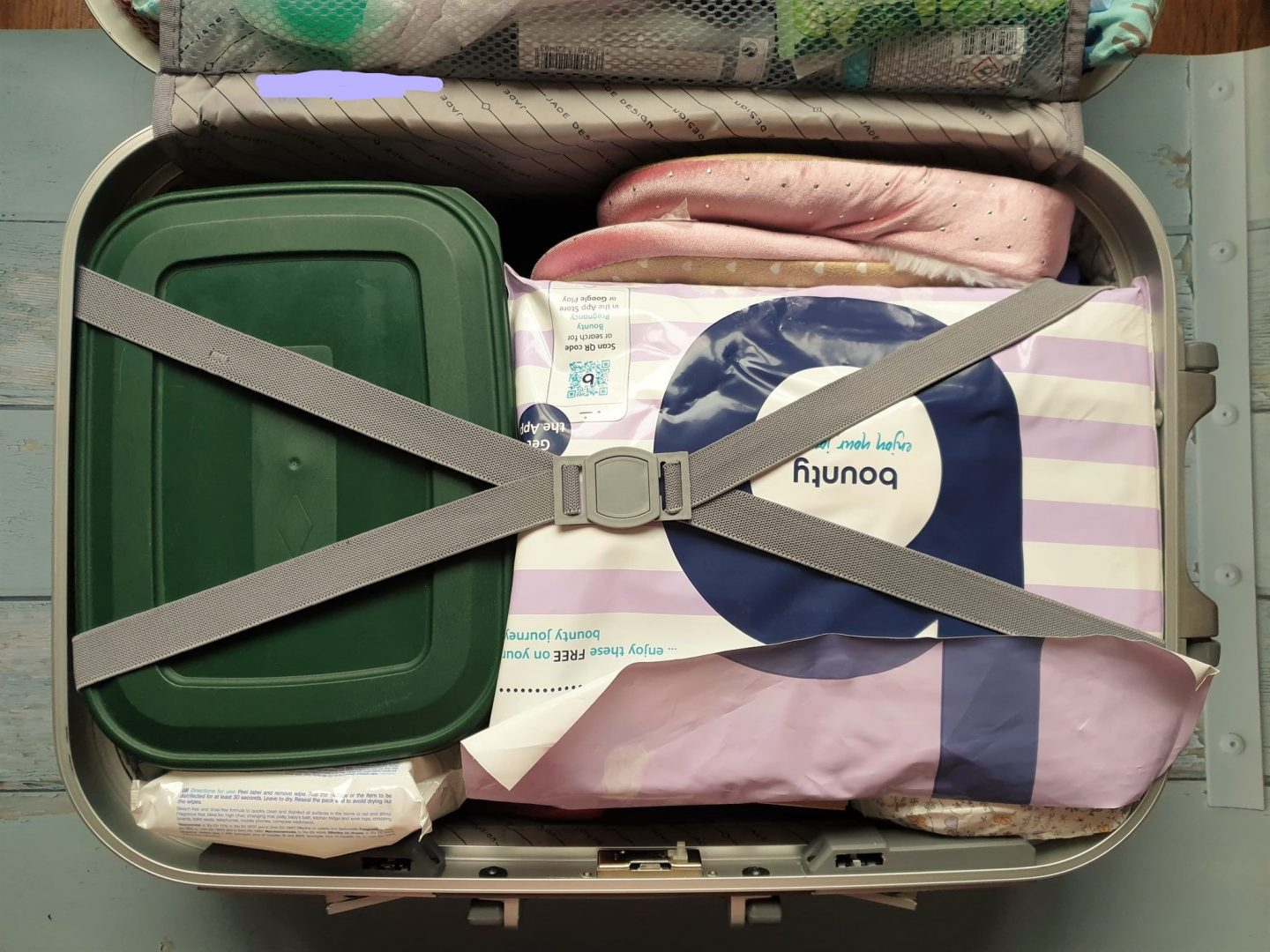 Small suitcase for hospital bag