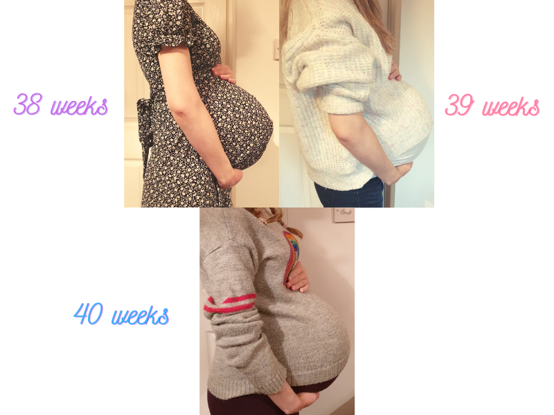 38 weeks - 40 weeks pregnant bump