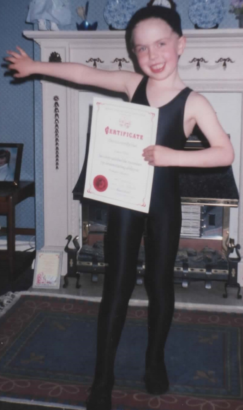 Modern dance certificate 1998